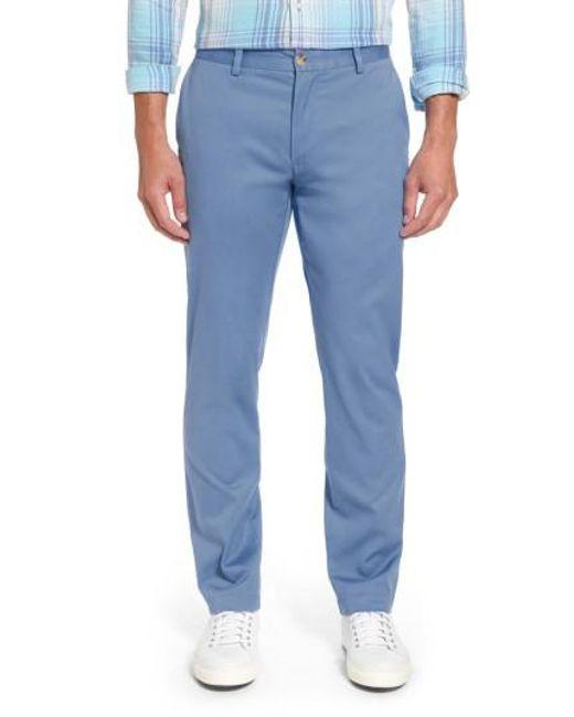 Vineyard Vines | Blue Breaker Flat Front Stretch Cotton Pants for Men | Lyst