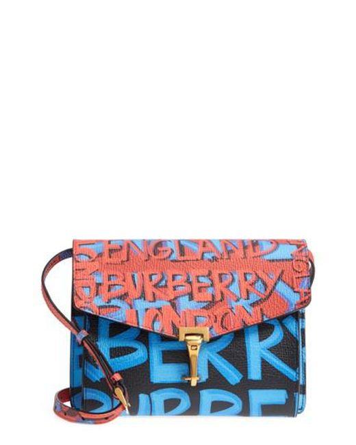 Burberry - Black Graffiti Print Small Macken Bag - Lyst