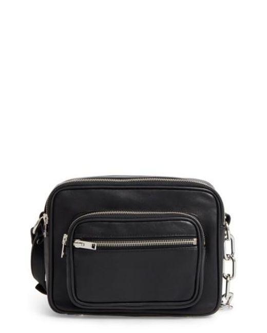 Alexander Wang - Black Washed Leather Crossbody Bag - Lyst