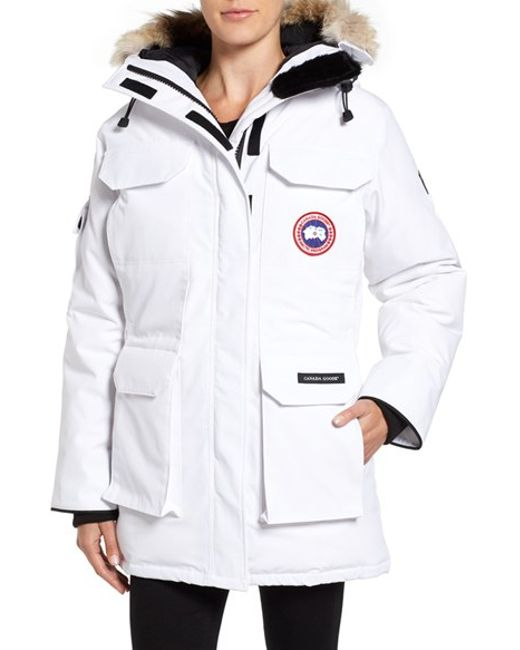 Canada Goose | Black 'expedition' Relaxed Fit Down Parka With Genuine Coyote Fur | Lyst