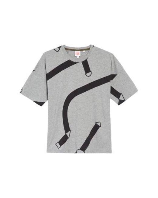 Lacoste | Black L!ve Harness Print T-shirt for Men | Lyst