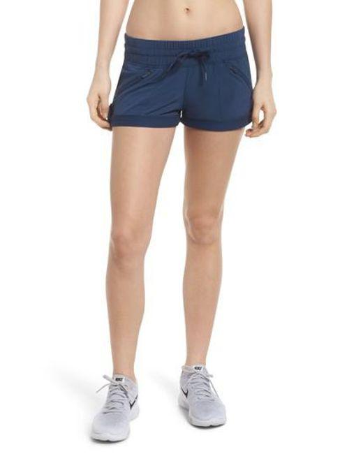 Zella - Blue Switchback Shorts - Lyst