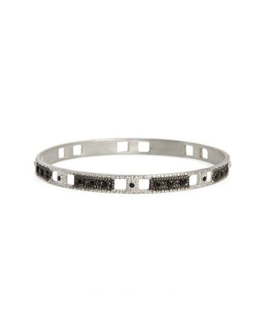 Armenta - Metallic New World Wide Open Square Motif Bangle - Lyst