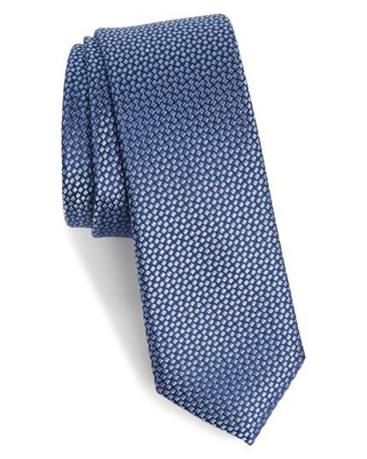 Calibrate | Blue Talley Abstract Silk Tie for Men | Lyst