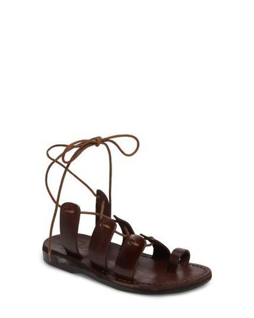 Jerusalem Sandals - Brown Deborah Wraparound Laces Sandal - Lyst