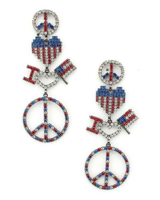 Elizabeth Cole - Multicolor Liberty Drop Earrings - Lyst