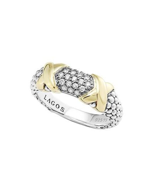 Lagos - Metallic 'diamond Luxe' Ring - Lyst