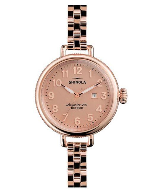 Shinola | Pink 'the Birdy' Bracelet Watch | Lyst
