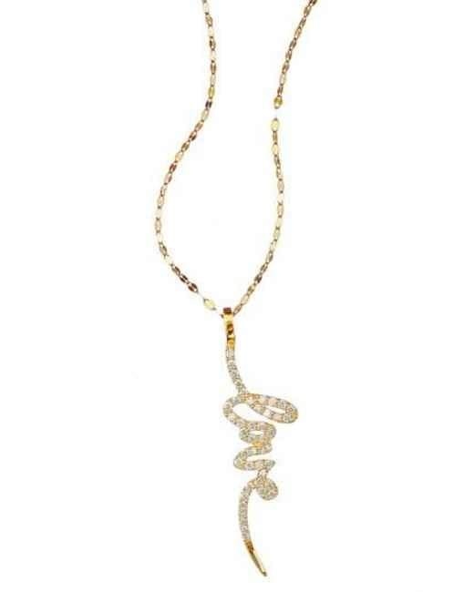Lana Jewelry - Metallic Reckless Love Pendant Necklace - Lyst