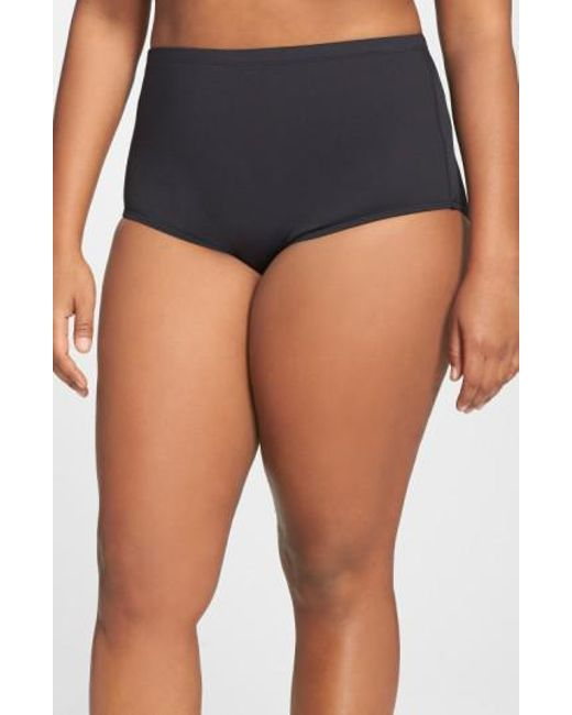 La Blanca - Black High Waist Bikini Bottoms - Lyst