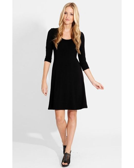Karen Kane | Black A-line Jersey Dress | Lyst