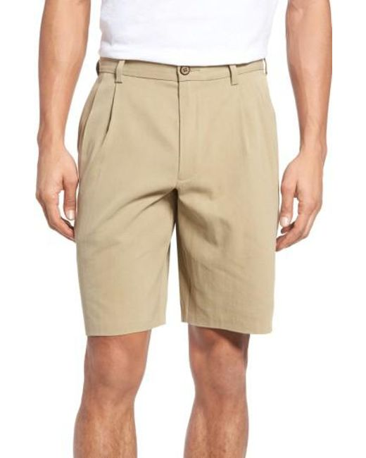 Tommy Bahama - Black 'st. Thomas' Pleated Shorts for Men - Lyst
