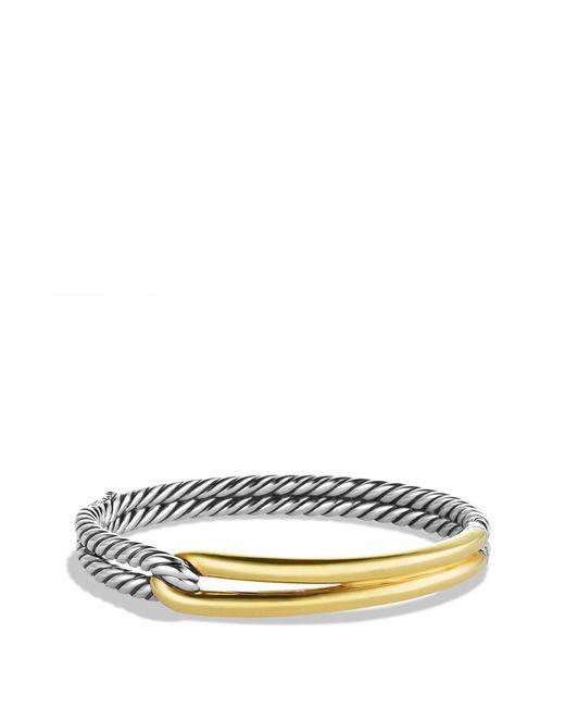 David Yurman - Metallic Labyrinth Single-loop Bracelet With Gold - Lyst
