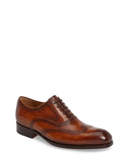 Magnanni Shoes | Brown Victorio Wingtip for Men | Lyst