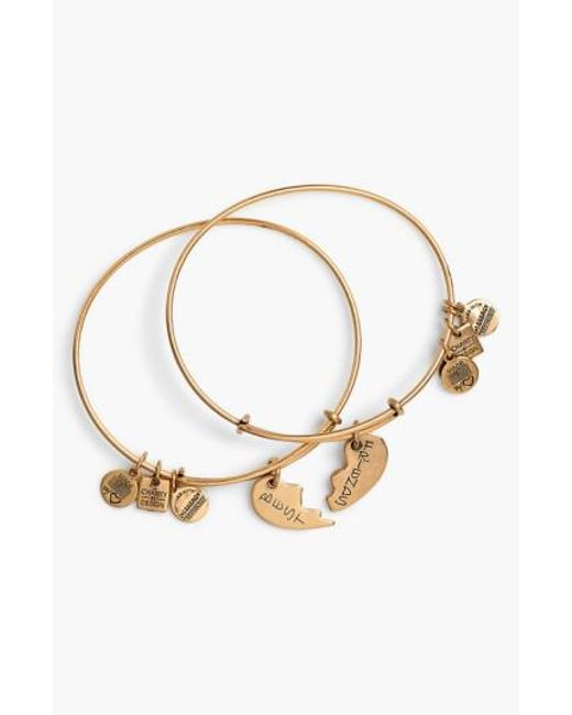 ALEX AND ANI   Metallic 'charity By Design - Best Friends' Adjustable Wire Bangles (set Of 2)   Lyst