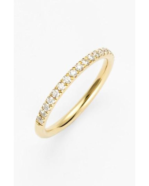 Bony Levy - Yellow 'stackable' Large Straight Diamond Band Ring (nordstrom Exclusive) - Lyst