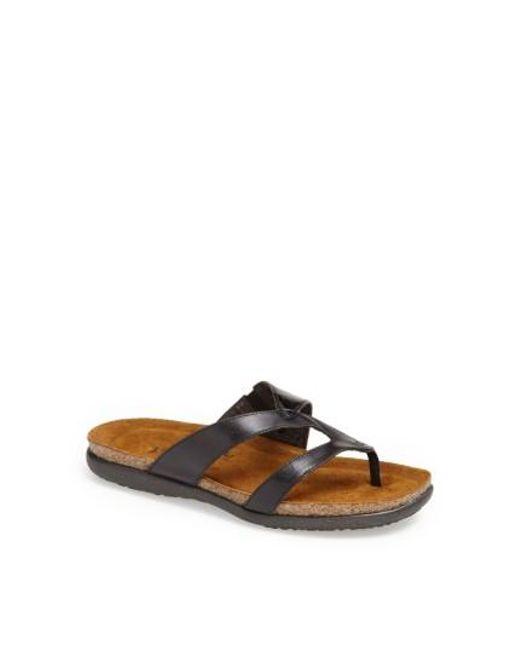 Naot | Black 'francine' Sandal | Lyst
