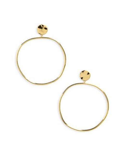 Gorjana | Metallic Chloe Frontal Hoop Earrings | Lyst