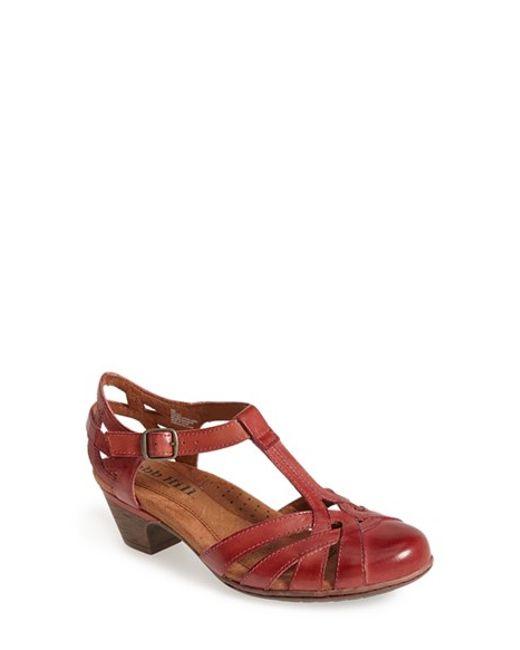 Cobb Hill | Red 'aubrey' Sandal | Lyst