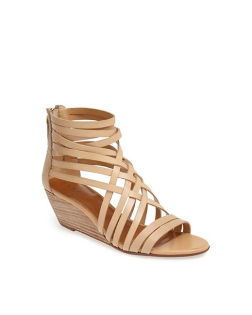 Hinge | Brown Neta Leather Wedge Sandals | Lyst