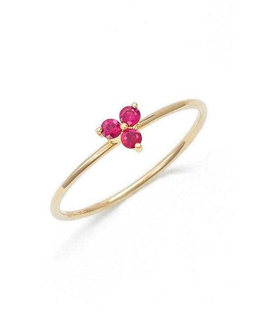 EF Collection - Red Gemstone Ring - Lyst