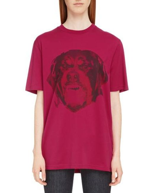 Givenchy - Multicolor Rottweiler Print Tee - Lyst