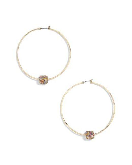 E.M. crystal embellished hoop earring - Metallic HK9iJ0