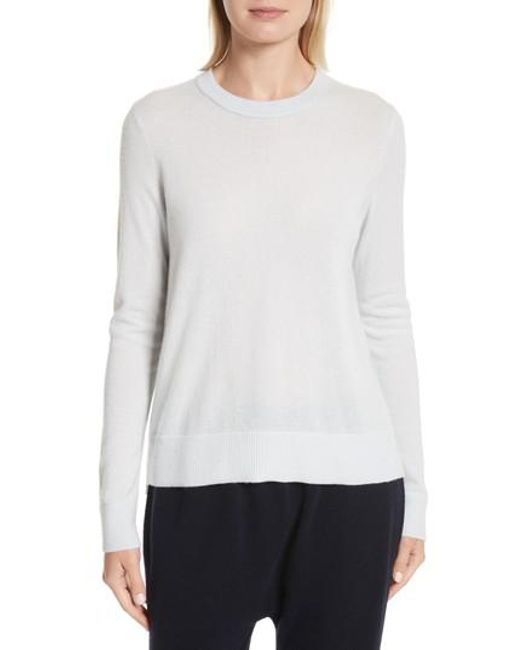 Vince - Multicolor Overlay Cashmere Sweater - Lyst