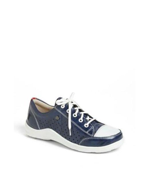 Finn Comfort | Blue Perforated Sneaker (Women) | Lyst