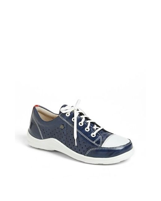 Finn Comfort | Blue Perforated Sneaker (Women) | Lyst