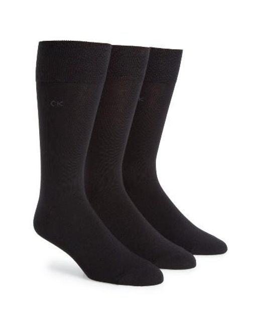 Calvin Klein | Assorted 3-pack Socks, Black for Men | Lyst