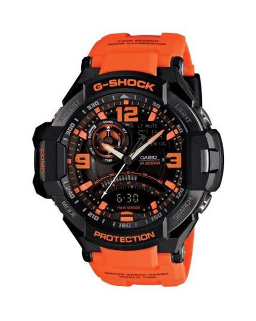 G-Shock | Orange 'aviation' Ana-digi Watch for Men | Lyst