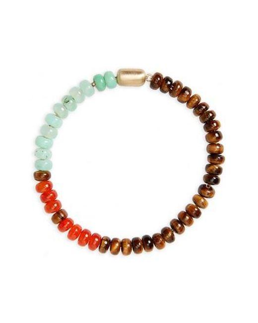 Luis Morais - Brown Gemstone Bracelet - Lyst