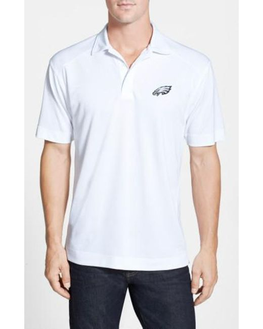 Cutter & Buck - White 'philadelphia Eagles - Genre' Drytec Moisture Wicking Polo for Men - Lyst