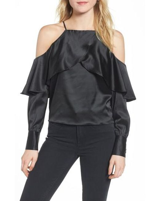 BISHOP AND YOUNG   Black Bishop + Young Mia Cold Shoulder Blouse   Lyst