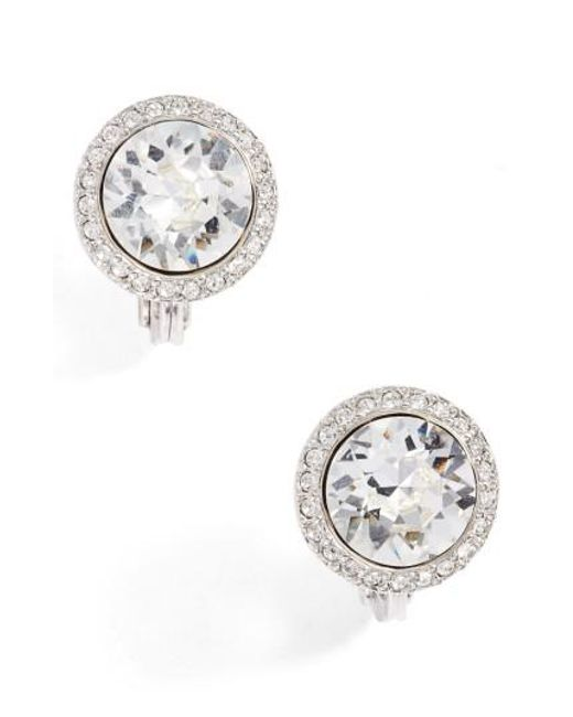 Givenchy   Metallic Crystal Button Stud Earrings   Lyst