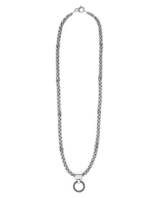 Lagos | Metallic 'enso' Pendant Caviar Rope Necklace | Lyst