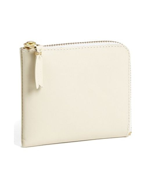 Comme des Garçons | White Half-zip Leather Wallet for Men | Lyst