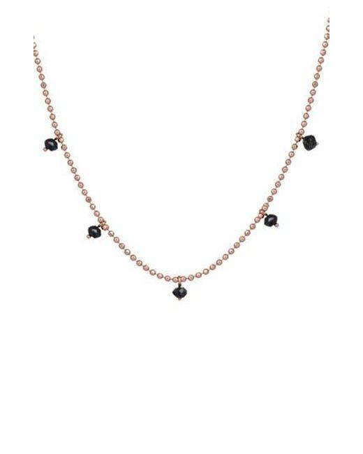 Kismet by Milka - Metallic Black Diamond Pendant Necklace - Lyst