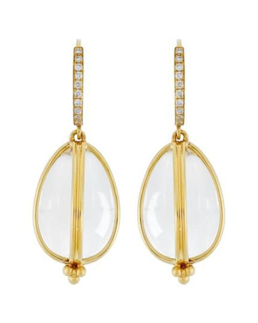 Temple St. Clair - Metallic Temple St. Clair Dia Classic Amulet Drop Earrings - Lyst