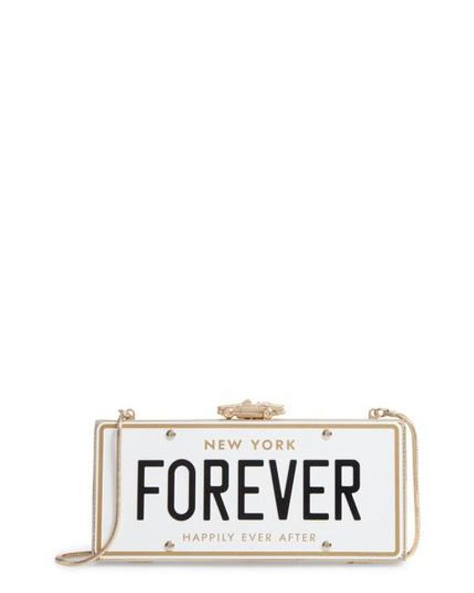Kate Spade | Multicolor Wedding Belles License Plate Clutch | Lyst