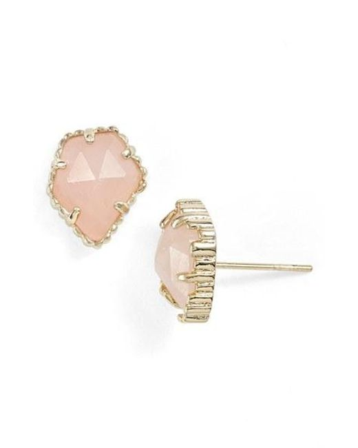 Kendra Scott | Metallic Tessa Stone Stud Earrings | Lyst
