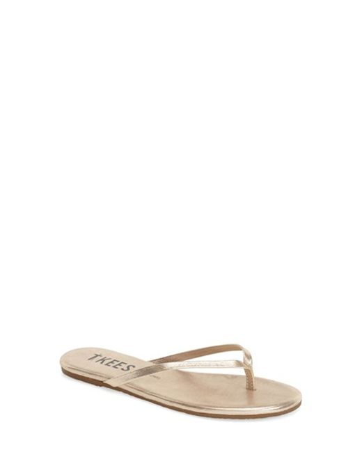 TKEES | Natural 'glitters' Flip Flop | Lyst