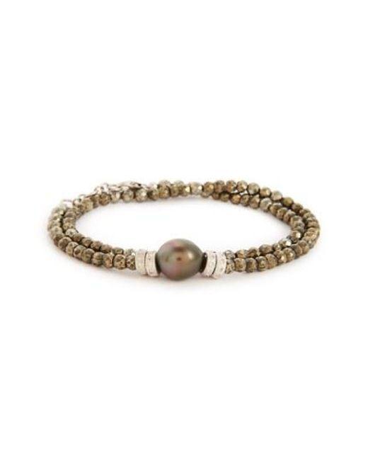Armenta - Metallic Old World Semiprecious Stone & Diamond Beaded Bracelet - Lyst