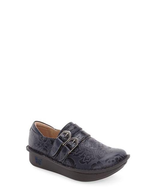 Alegria | Black Alli Embossed-Leather Loafers | Lyst