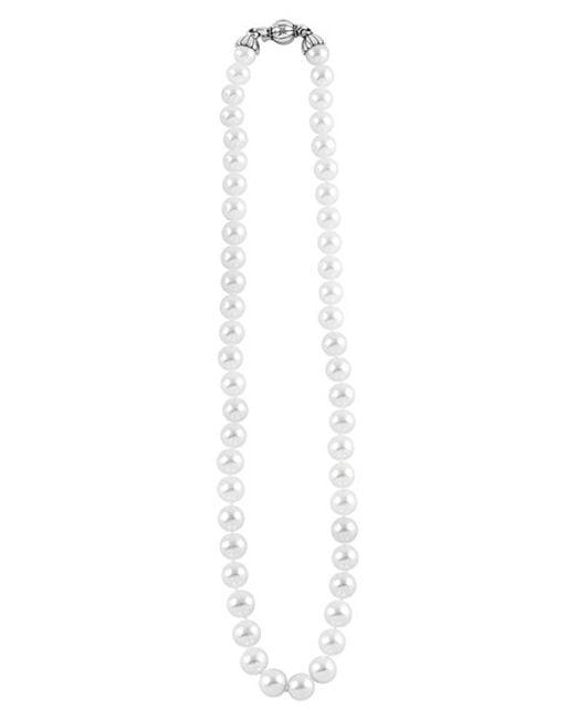 Lagos | Metallic 'luna' 8mm Pearl Necklace | Lyst