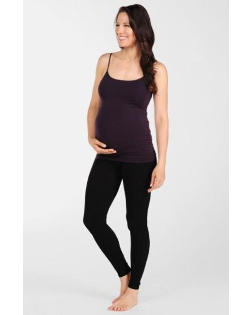 Tees by Tina   Black Micro Rib Maternity Leggings   Lyst