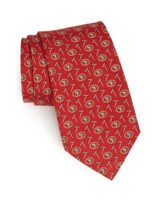 Vineyard Vines | Red San Francisco 49ers Print Tie for Men | Lyst