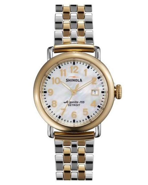 Shinola - Metallic 'the Runwell' Bracelet Watch - Lyst