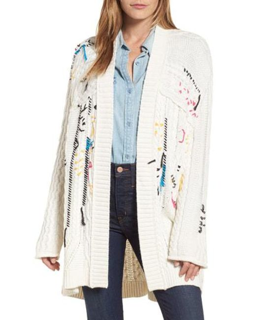 Caslon - Multicolor Caslon Knitty Gritty Cardigan Sweater - Lyst